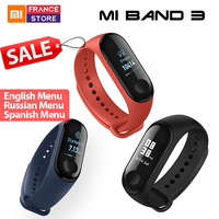 Global version Xiaomi Mi Band 3 Fit Bit Sleep Tracker Waterproof Fitness Tracker Miband 3 Strap Heart Rate Reject Phone Call