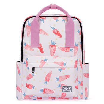 Preepy Waterproof Woman School Backpack for Girl 2019 Premium Canvas Carrot Printed Bookbag Travel Lightweight Laptop Back Bag girl printed medium paper bag