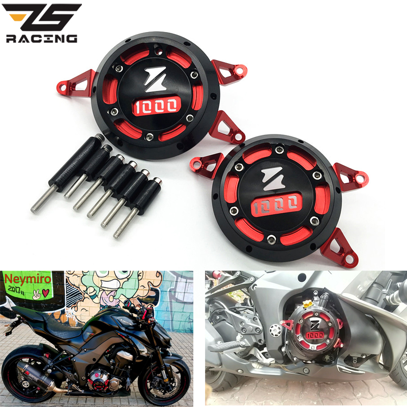 ZS Racing Motorcycle Engine Stator Cover CNC Aluminum Engine Protective Cover Protector For Kawasaki Z1000 Z1000SX 2011-2015 engine stator crank case generator cover crankcase for kawasaki z1000 2003 2004 2005 2006 cnc aluminum black red