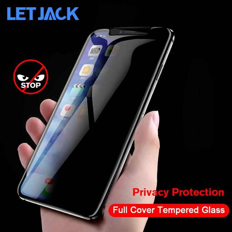 Film de Protection de la vie privée en verre trempé pour iPhone X XR XS protecteur d'écran Max pour iPhone 7 8 6S Plus Film Anti-espion