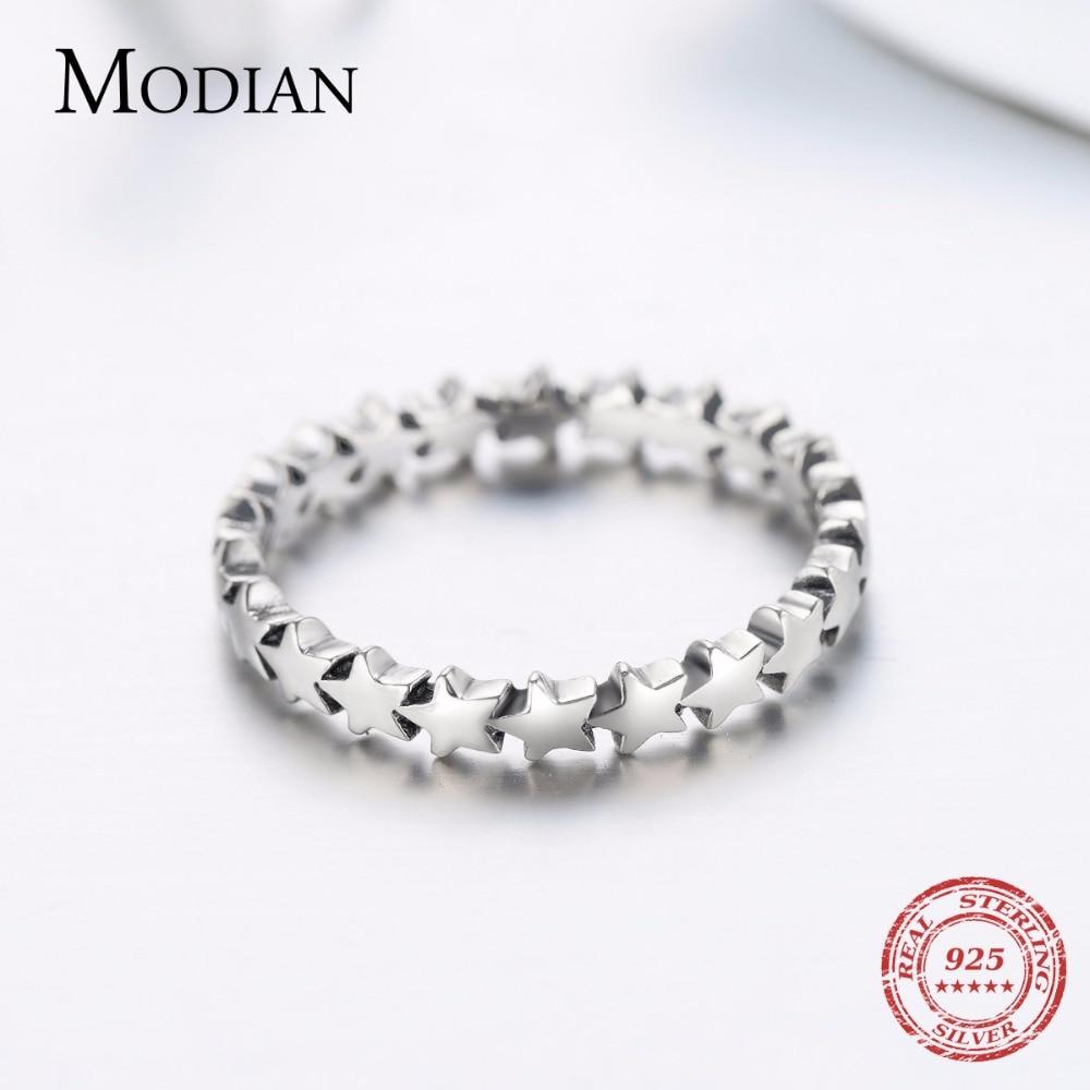 Moidan Orijinal Ulduz Real 925 sterlinq gümüş zərgərlik izi - Moda zərgərlik - Fotoqrafiya 4