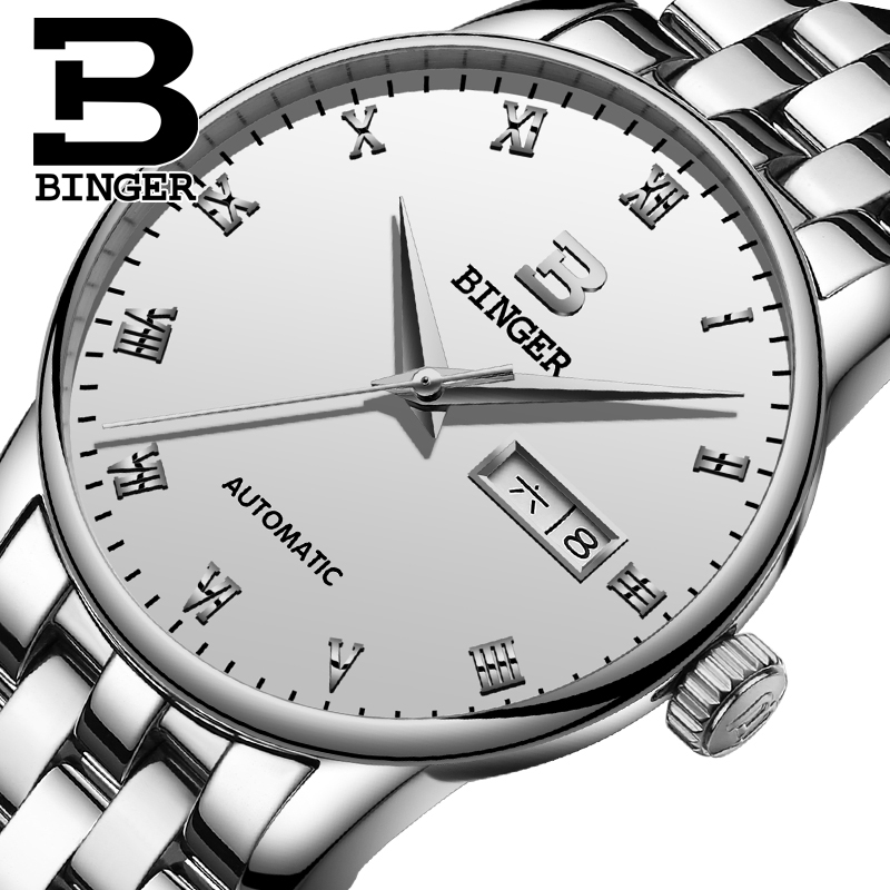 2018 BINGER Utra Thin Mechanical Watches Simple Design Stainless Steel Band Business Wristwatches Mens Watches Top Brand Luxury2018 BINGER Utra Thin Mechanical Watches Simple Design Stainless Steel Band Business Wristwatches Mens Watches Top Brand Luxury