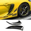 Для Porsche 981 Cayman углеродное волокно боковой Впускной воздуховод с глянцевым стеклом отделка внешняя отделка Аксессуары Гоночный Автомобиль ...