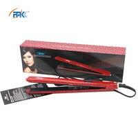 FMK Professional Flat Iron Hair Straightener Fast Titanium Heating Brush Beauty Hair Styling Tool EU Plug