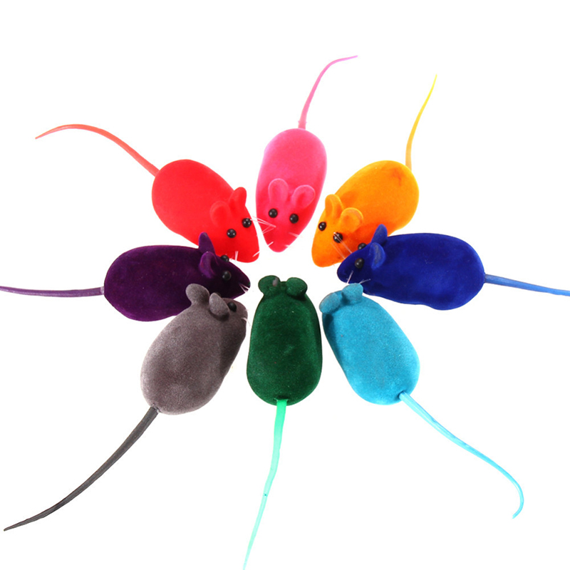 Pet Toys Hot Sale Fun Toy Little Mouse Realistic Sound Toys For Cats For Pet Cat Dog 10PCS/lot