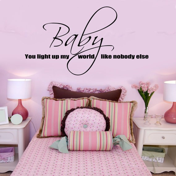 Special Personalized Vinyl Wall Sticker Baby You Light Up My World One  Direction Wall Sticker Lyrics