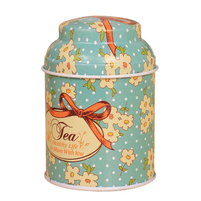 Ретро герметичный Home коробка для хранения цветок из металла Кофе сахар Чай жестяная баночка контейнер