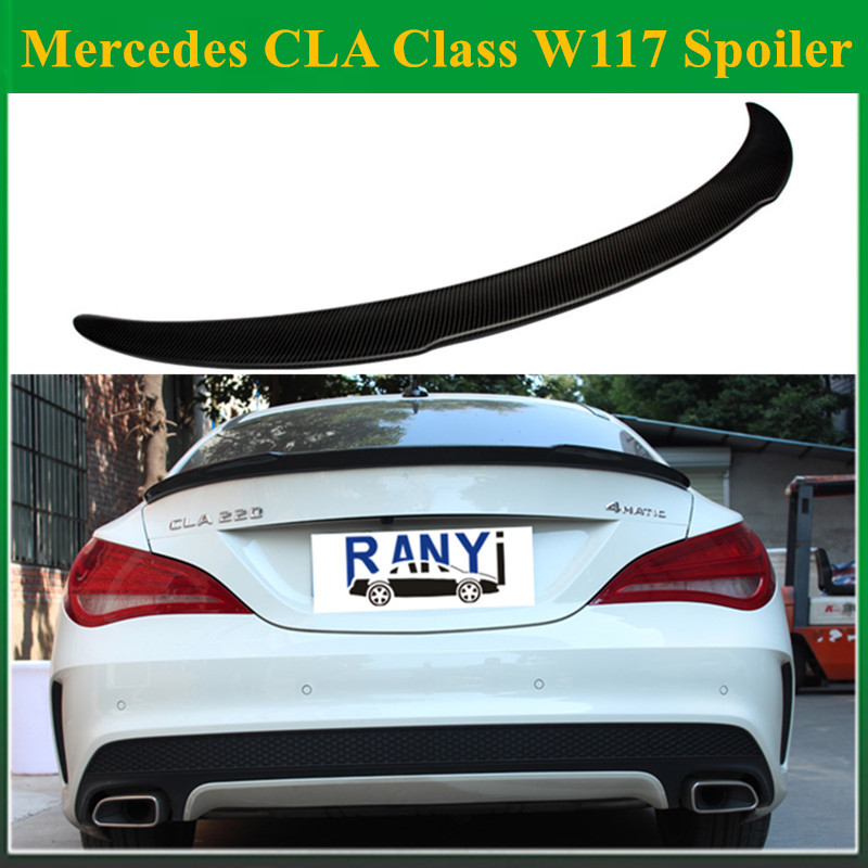 Mercedes CLA class w117 FD style carbon fiber rear trunk spoiler wing for benz w117 cla 180 cla 200 2014 +