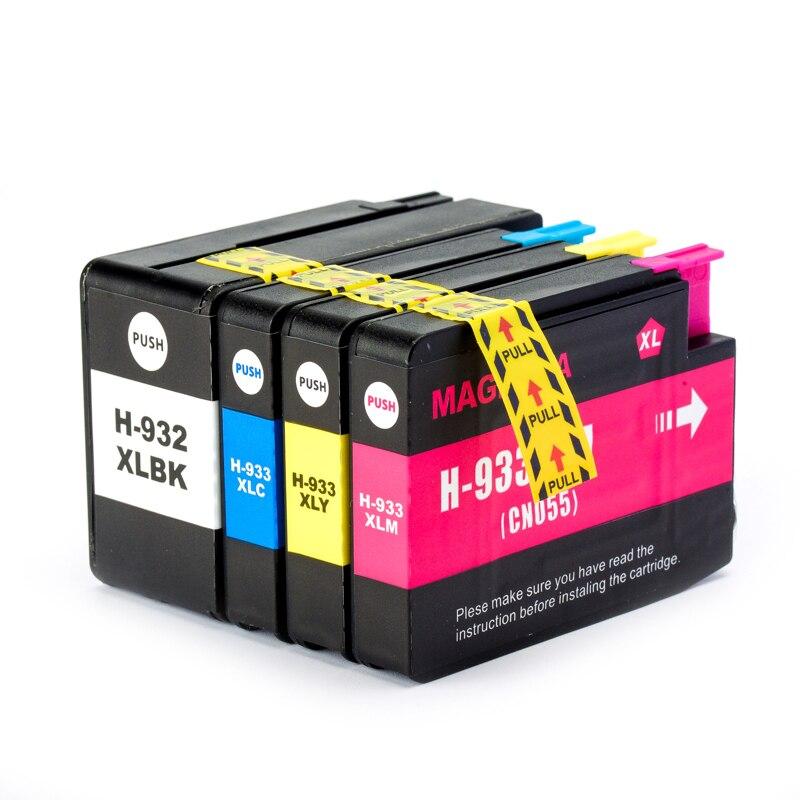4PK For HP 932 933 HP 932XL 933XL Compatible Ink Cartridge For HP Officejet 6100 6600 6700 7110 7610 7612 7510 7512 Printer original new 932 933 932xl 933xl print head printer head printhead for hp 6100 6600 6700 7610 7612 printer