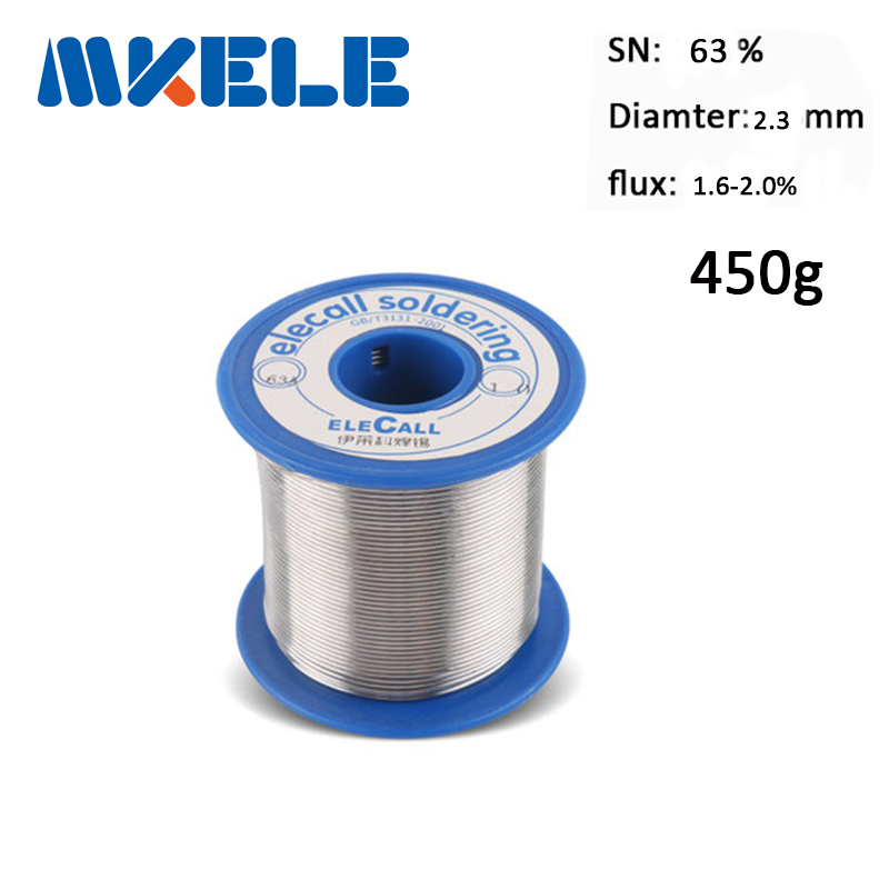 Solder Wire 63/37 Tin 2.3mm 450g Pure Tin Rosin Core Tin Lead Rosin Roll Flux Reel Lead Melt Core Soldering Tin