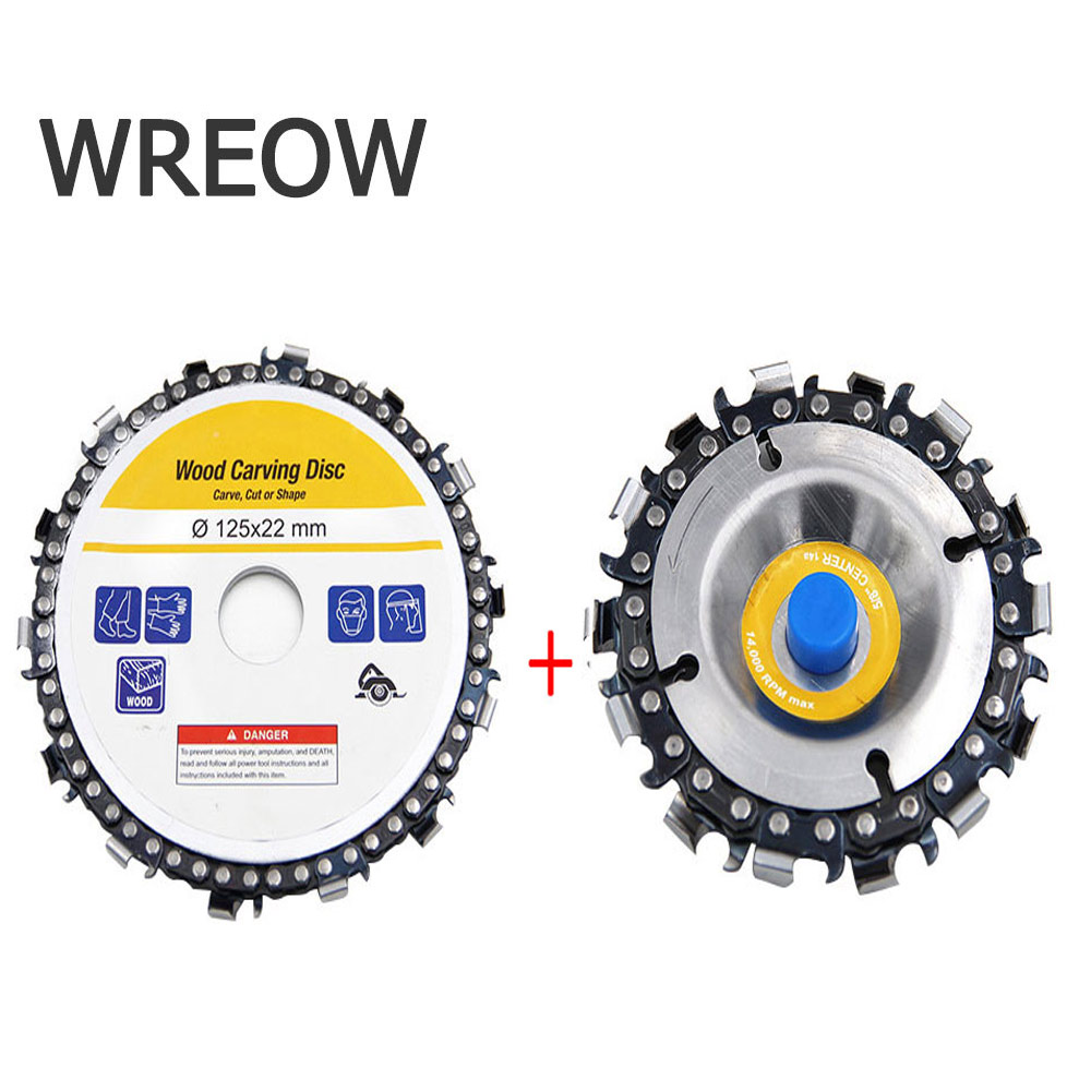 4/5in Metal Wood Carving Disk Grinder Chain Woodworking Saw Blade Cutting Blade Grinding Wood Slotted Saw Blade  Angle Grinder