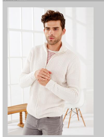 100%Cashmere Red Sweater Men's Zipper Cardigan Turtleneck White Warm Winter Natural Fabric Extra Soft High Quality Free Shipping