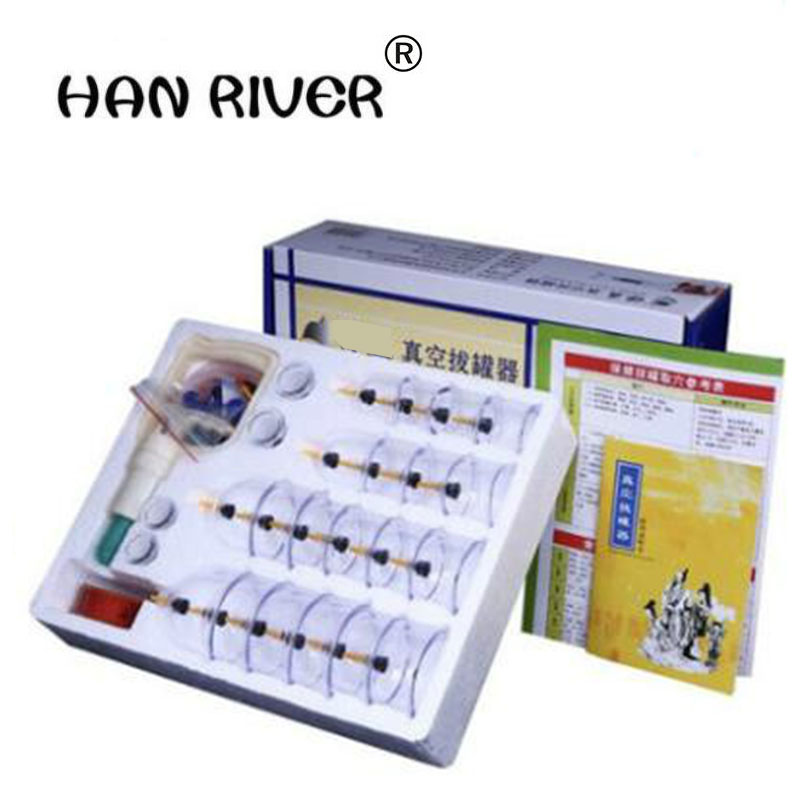 24 PCS vacuum magnetic therapy of household gas type cupping apparatus can pull tanks containing joint of cupping therapy tamiyarising sue su 85 tanks containing pastel 89797