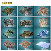 3Mx3M Hunting Blind Military woodland camo Net Camping Camouflage Net Sunshade for Hunting Hiking Outdoor Sports with edge bind
