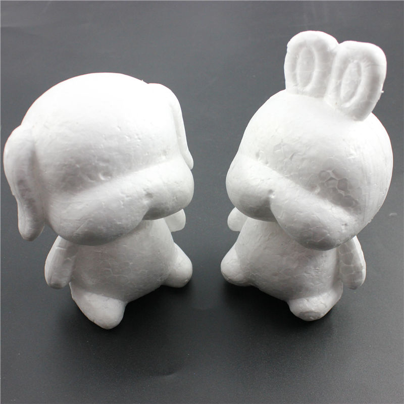 1 Pcs Modelling Polystyrene Styrofoam Foam Dog Rabbit White Craft Balls For DIY Christmas Party Decoration Supplies Gifts