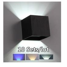 цена 10sets 3W LED Wall Lamp Modern Bedroom Beside Reading Wall Light Indoor Living Room Corridor Hotel Room Lighting Light Fixture в интернет-магазинах