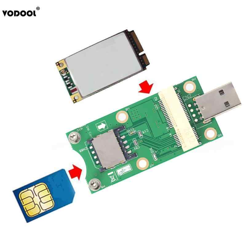 Mini PCI-E to USB Adapter with SIM 8 Pin Card Slot for WWAN/LTE Module Support for SIM 6pin/8pin Card Connector High Quality