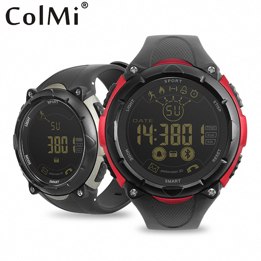 ColMi Smart Watch IP68 5ATM Waterproof Message Call Reminder Ultra-long Standby Sport Steps Counting Watch for Android IOS Phone
