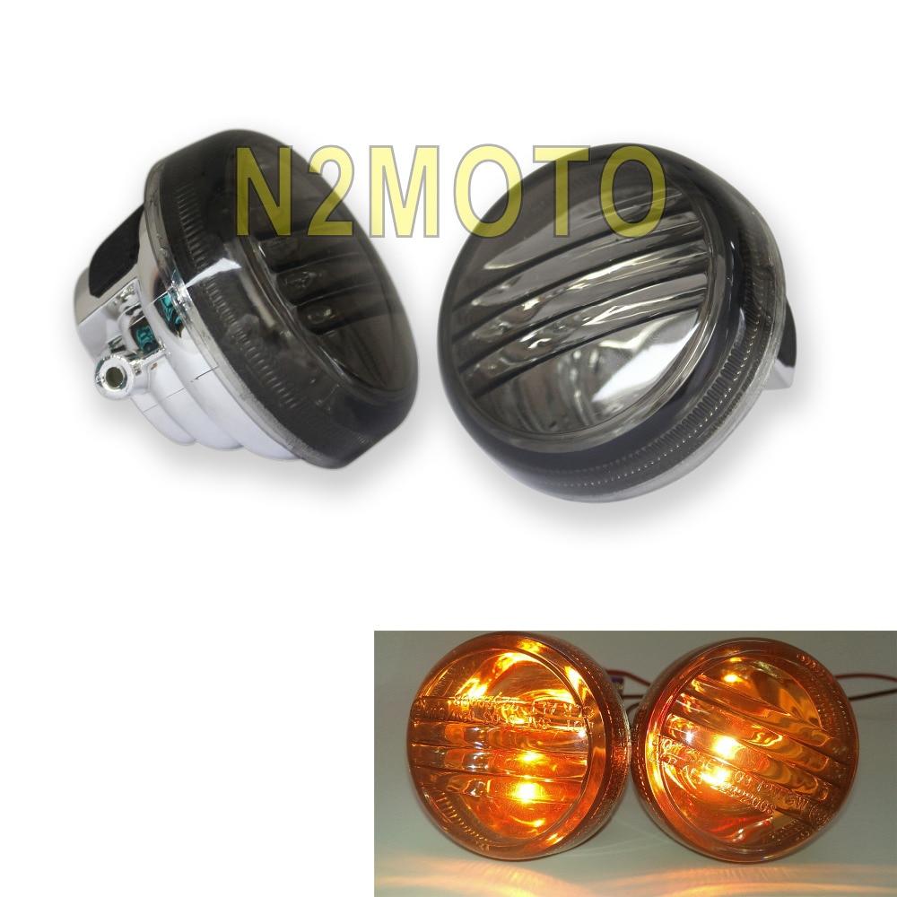 Smoke motorcycles turn signal lense for suzuki boulevard m50 c50 vl800 c90 1500