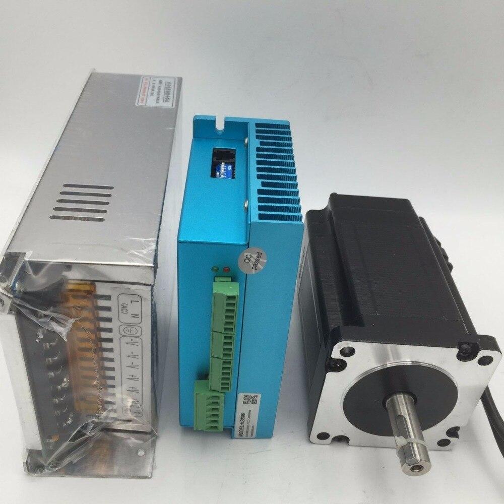 CNC 4Nm 572oz-in 2 phases en boucle fermée NEMA 34 Kit d'entraînement de moteur pas à pas avec alimentation 48 v pour routeur de CNC