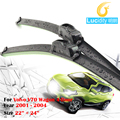 Car Bracketless Windscreen Wiper Blade Vehicle Soft Rubber Windshield Wiper 1 Pair For Volvo V70 Wagon 4-Door 2001-2004