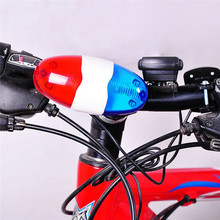 Newly Upgraded Version Cycling Bicycle Bells 4 Kinds Sound With Light Flash 6 LED Warning Handlebar Bike Horn Lights Accessories
