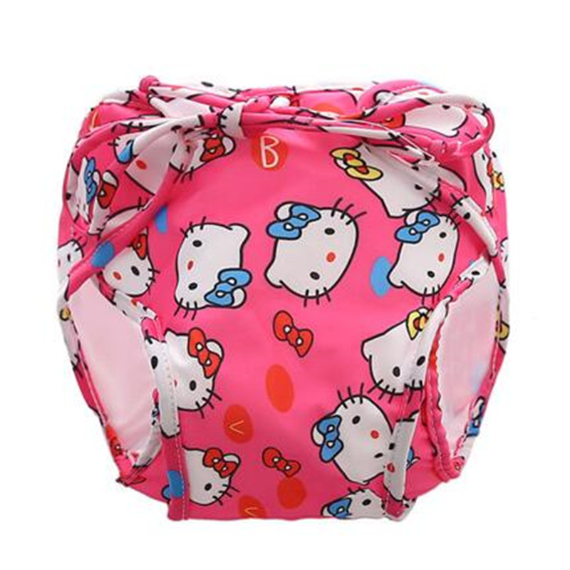 Funfeliz Baby Swimwear Anti-Leaking Infant Swim Diapers Cartoon Baby Girl Swimsuit 20 colors Newborn Girl Bathing Suit 0-3T