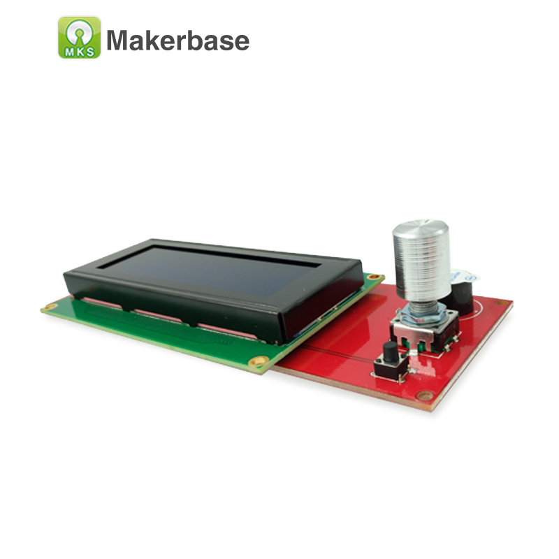 MKS LCD2004 display3D reprap lcd module reprapdiscount smart controller compatible Ramps1.4 LCD Panel good durability/stability asymptotic stability