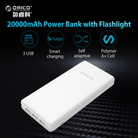 ORICO 20000mAh 3 USB Power Bank External Battery Portable Mobile Backup Bank Charger For Android IPhones