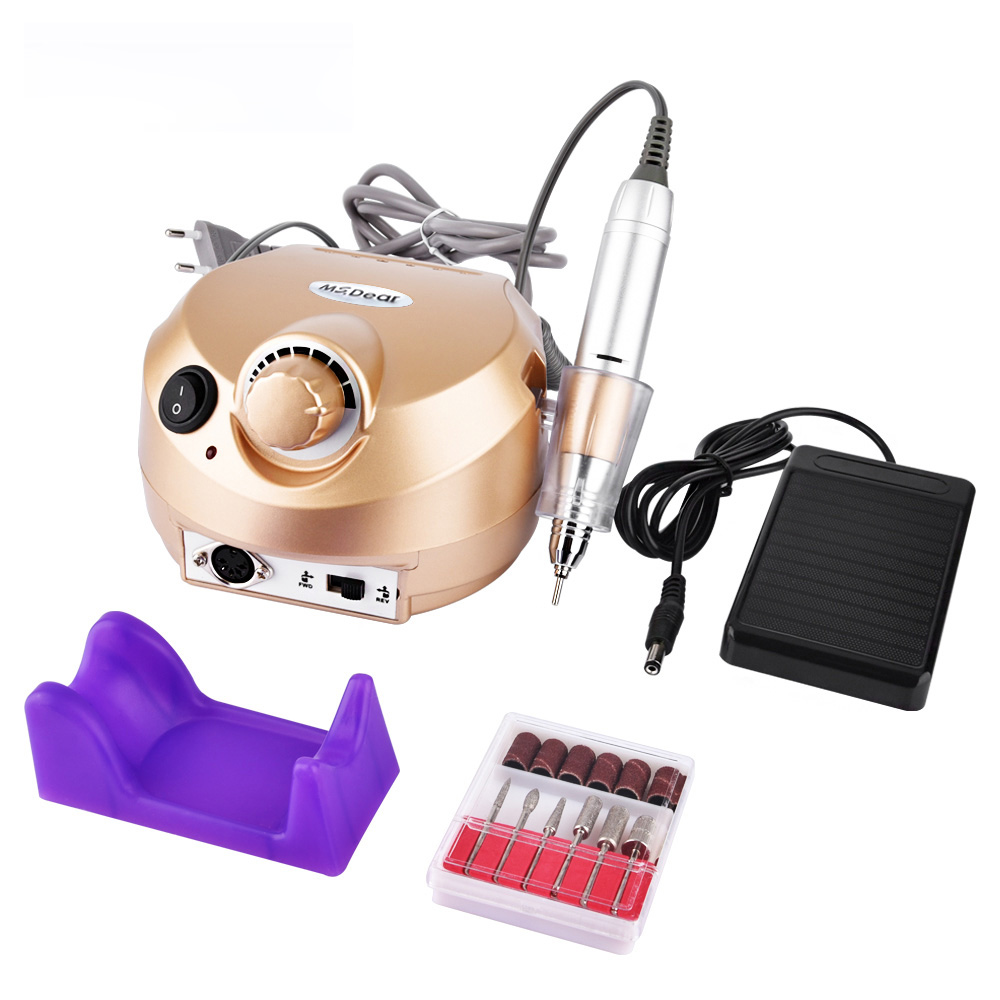 35000RPM Manicure Pedicure Kit Professional Electric File Drill Bit Machine Sand Band Accessory Equipment Nail Art Polisher Tool