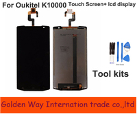 Angcoucoux LCD Display Replacement Parts For Oukitel K10000 LCDs Touch Screen Glass Panel Digitizer Assembly Free