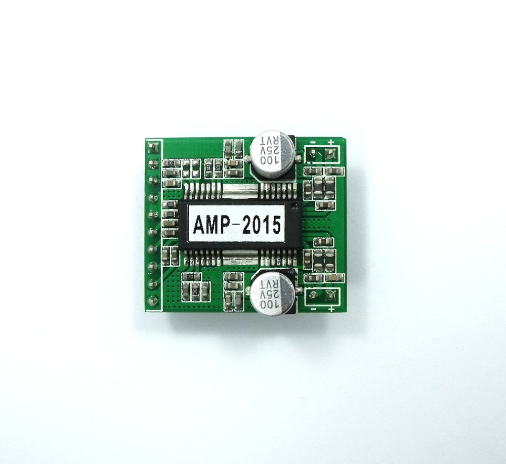AMP-2015 2x15W Class-D Stereo Audio Power Amplifier 8V to 25V THD 0.1% Digital AMP Two Channel 0