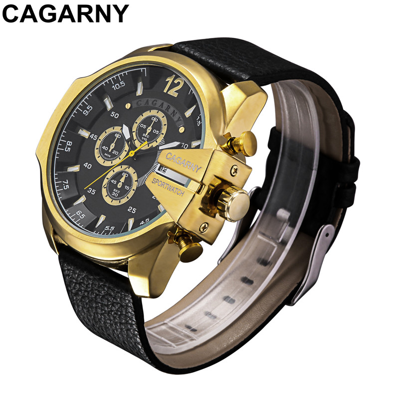 Relogio Masculino Luxury Brand Gold Watch Men's Quartz Watch Men Watches Leather Casual Sport Military Watch Wrist Male Clock