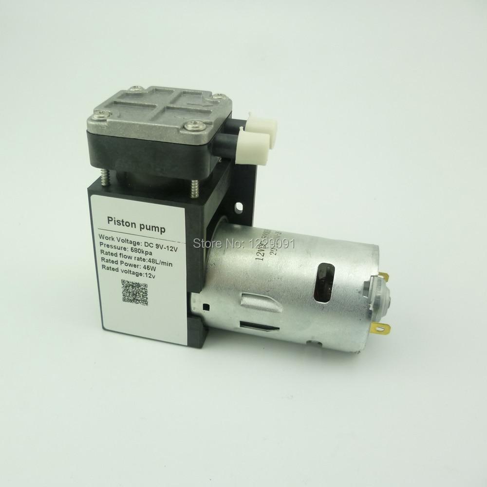 Mini 45 W 6 v 9 v 12 v 24 v dc 85kpa pompe à Air électrique pompe à vide aspiration 48L/Min débit d'air