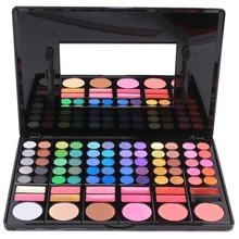 2016 Professional 1 Set/78 Colors Eye Shadow Makeup Palettes Blush Fadation Make-up Palette Set Cosmetic Tools