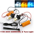 2x 1156 PY21W S25 BAU15S 50W LED Error Free Canbus DRL Daytime Running Lights & Turn Signal Dual Mode DRL LED Turn Signal Light
