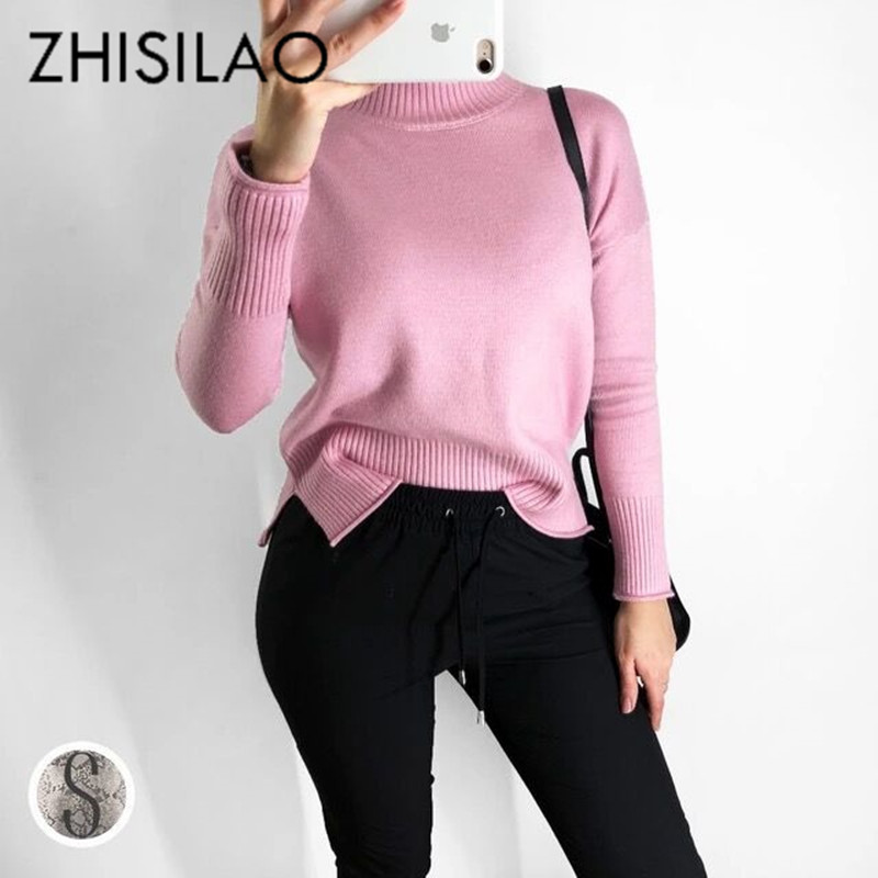 ZHISILAO Woman Sweaters And Pullovers Women Warm Turtleneck Knitted Sweater Cashmere Sweater Mujer Solid Pull Femme Hiver 2018