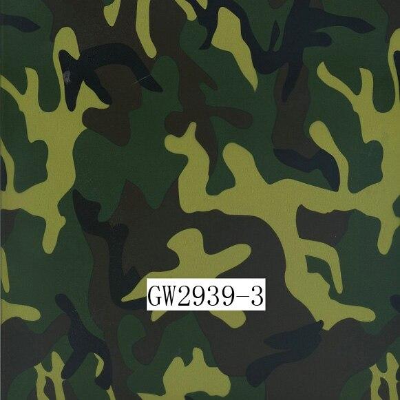 GW2939-3 100CM Camouflage water transfer printing films &Water Transfer Printing Hydro Graphics Film- Green Army Camo
