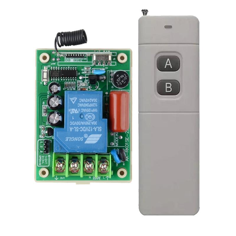 AC220V 30A 3000 M Télécommande Interrupteur Pompe À Eau Moteur LED Télécommande Long Range Distance Émetteur 3000 W 315 433 MHZ