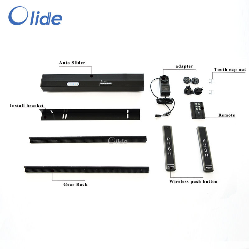 Olide Residential Automatic Sliding Door Operator,Black Automatic Patio Door Opener