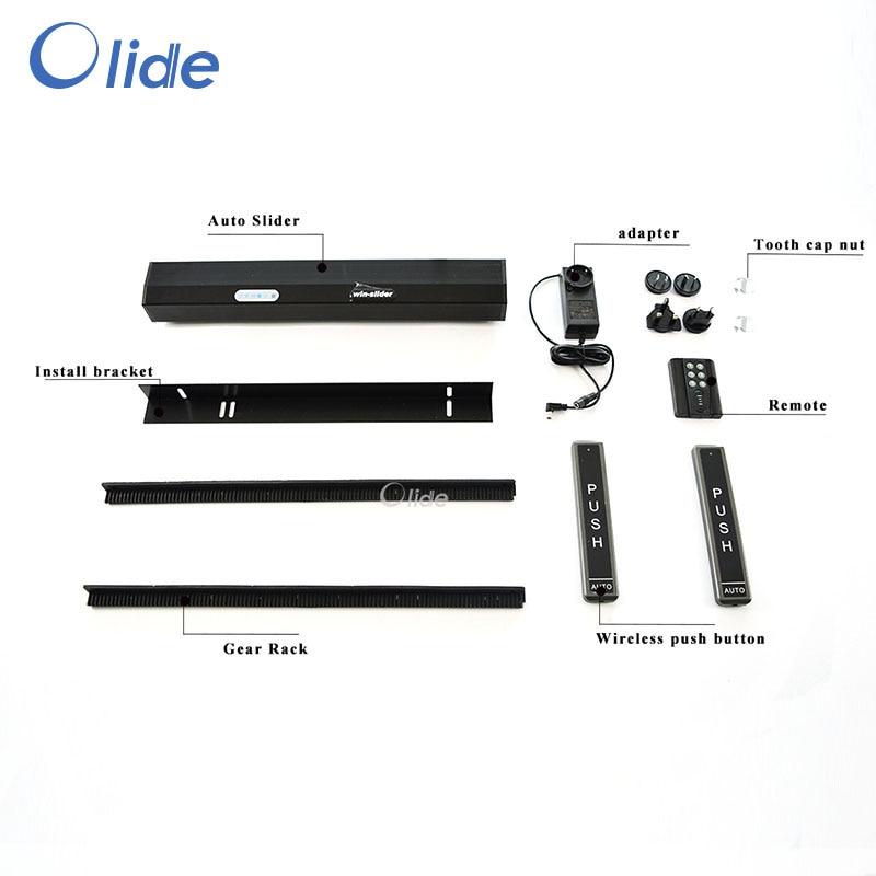 Olide Residential Automatic Sliding Door Operator,Black Automatic Patio Door Opener