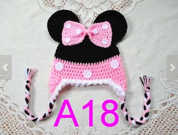 10pcs/lot Crochet baby hat baby toddler girl hat , baby boys hat beanie , earflaps braids free shipping фото