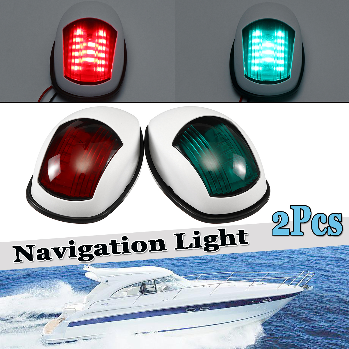 24v Marine Boat Bulb Light 25w Navigation Light Signal Lamp All Round 360 Degree Night Lighting Marine Hardware
