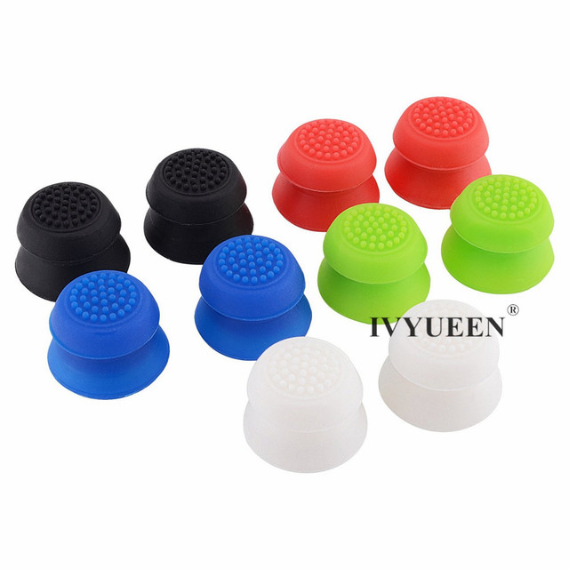 IVYUEEN 2 pcs Silicone Analog Grip Thumbstick Thumb Sticks Extra Cover High Enhancements For Dualshock 4 PS4 Pro Slim Controller 2