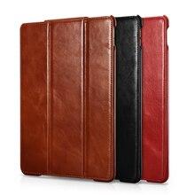 Icarer новые Бизнес ретро кожаный чехол для iPad Pro 10,5 высокое качество Винтаж Натуральная кожа флип чехол для iPad Pro 10,5