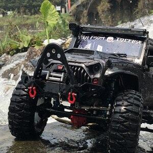 Image 5 - Metal Black Front Bumper(Rear bumper)  for 1/10 RC Crawler Car Traxxas TRX 4 Axial  SCX10 II 90046