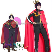 Noragami Yato Red Cloak Cool Men S Coat Anime Uniform Cosplay Costume Free Shipping