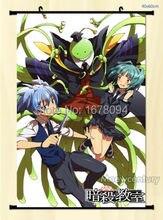 Anime Wall Scroll Assassination Classroom Nagisa Shiota Kaede Kayano Home Decor