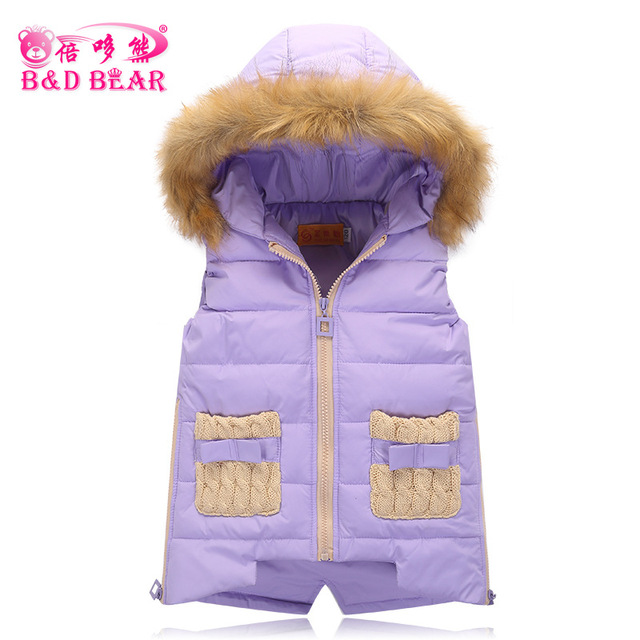 2016 New Baby Boy Vest Kids Duck Down Vest Waistcoat Coat Autumn &winter  Children Warm Hooded Girl Winter Vest Jacket 3-12 Year