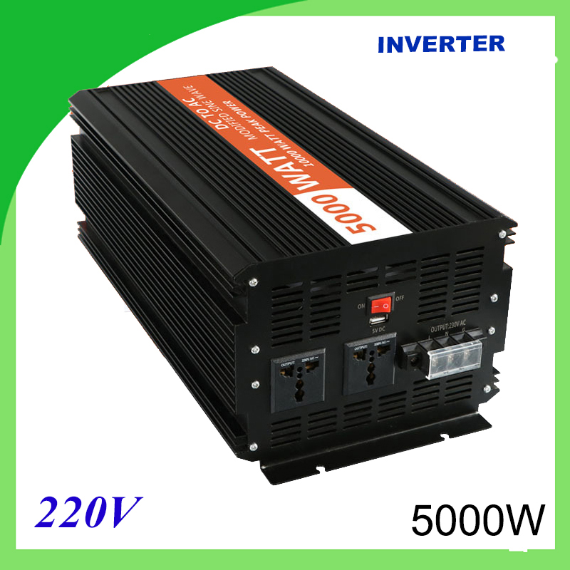 5000W Voltage Converter To 220V Modified Sine Wave Power Inverter 12V/24V 220V DC 5000w voltage converter to 220v modified sine wave power inverter 12v 24v 220v dc